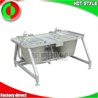 Double tanks bubble ozone vegetable clenaing machine quotation